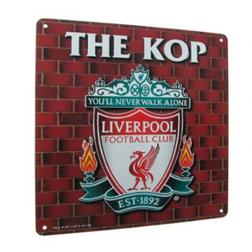 Liverpool FC 'The Kop' Metal Sign